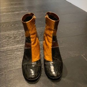 Robert Clergerie patched boot